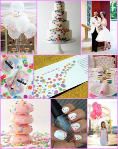 confetti  wedding theme--hmm... something to consider :D #Fun