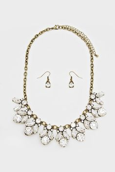 Crystal Delphine Necklace | Women's Clothes, Casual Dresses, Fashion Earrings & Accessories | Emma Stine Limited