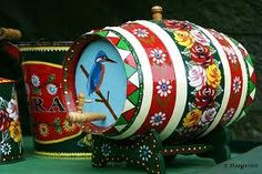 Barge Art barrel
