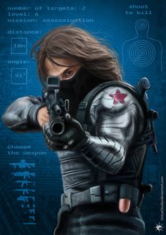 The Winter Soldier: Bucky Barnes by UnicatStudio Marvel Vs, Marvel Heroes, Stucky, Marvel Characters, Marvel Movies, The Dark Side, Captain America And Bucky, Creation Art, Bucky And Steve