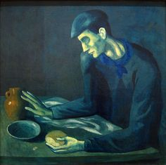 The Blind Man's Meal, 1903, for more please visit http://painting-in-oil.com/artworks-El-Greco-page-1-delta-ALL.html