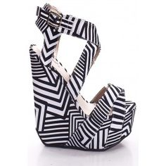 sepatusekolah: Black And White Wedges Shoes Images