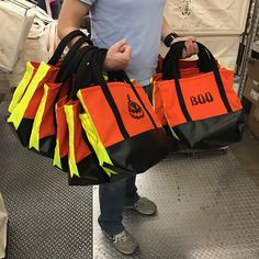 Heavy lifting for Halloween.  #halloween #totebag #safety #candy #madeinusa #steelecanvas