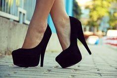 Black. Pumps. Shoes.