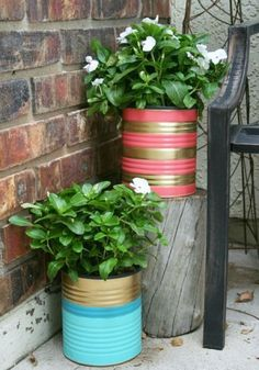 32 Awesome DIY Tin Can Projects & Ideas for Garden A password will be e-mailed to you. 32 Awesome DIY Tin Can Projects & Ideas for Awesome DIY Tin Can Projects & Ideas for GardenR Painted Tin Cans, Paint Cans, Diy Décoration, Easy Diy, Diy Flowers, Flower Pots, Bright Flowers, Bright Colors, Outdoor Projects