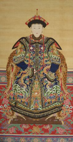 Chinese Art | Portrait of a Manchu Noblewoman http://asia.si.edu/collections/zoomObject.cfm?ObjectId=45573
