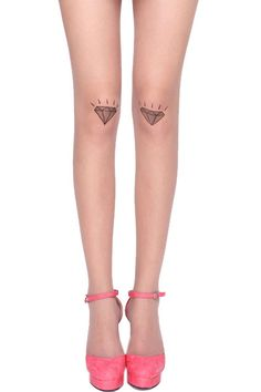 Romwe Diamond Print Nude Tights, $10.99   29 Pairs Of Tights That Are Simply Da Bomb