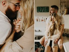 In Home Session // Mattie+Peter // An intimate photo session at their Portland, Oregon 1920's apartment. A slow morning with coffee and cuddles.