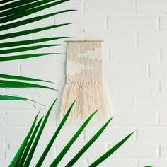 Handmade woven wall hanging tapestry weaving — Wabi Sabi Textile Company l wabisabitextileco.com