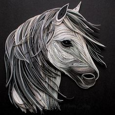 Quilled Horse by Mainely Quilling, Artist interview at the link.