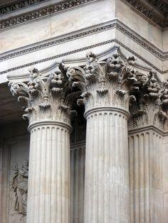Corinthian columns - St Paul's Cathedral, London