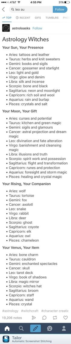 Astrology for witches - your presence, gift and companion