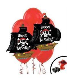 Boys Pirate Jumbo Balloon Bouquet - Multi-colored