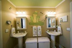 Love these bathroom ideas for children.