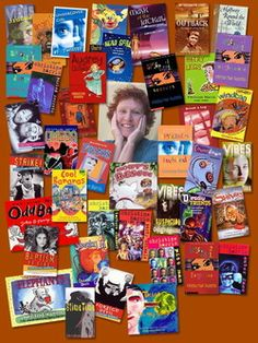 christine harris surrounded by her books