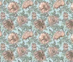 Poppy fabric by marthabowyer on Spoonflower - custom fabric