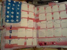 july journaling calendar