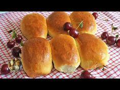 🍒ПИРОЖКИ С ВИШНЕЙ в духовке как пушок,не трескаются, не вытекают! - YouTube Hot Dog Buns, Hot Dogs, Bread, Recipes, Youtube, Food, Bakken, Brot, Essen