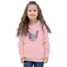 Rainbow Cat - Kids Hoodie #GirlsHoodies #hoody #girls #KidsHoodie #summer #kids #KidsHoody #hoodie #KidsClothes #KidsSweaters Hoodie Allen, Kids Bjj, Mma Clothing, Kids Clothing, Unicorn Kids, Unicorn Party, Kangaroo Pouch, Gifted Kids, Stylish Kids