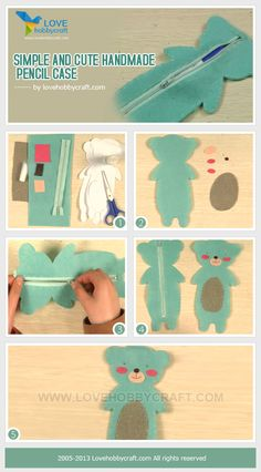 Simple and cute handmade pencil case