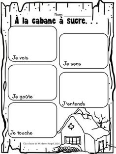 """""""Le temps des sucres"""" Themed Vocabulary Activities in French Vocabulary Activities, Classroom, Teacher, Student, French, Writing, Grade 1, Learning, Quebec Winter Carnival"""