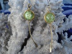 Handhammered Brass wire Earrings