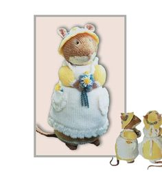 Your place to buy and sell all things handmade Animal Knitting Patterns, Bear Patterns, Vintage Patterns, Crochet Patterns, Brambly Hedge, Spinning Wool, Diy Toys, Crochet Designs, Free Knitting