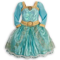 Disney Merida Costume for Girls   Disney StoreMerida Costume for Girls - The flame-haired archer's elegant costume will hit the bullseye with your Brave young princess. She'll be all set for Highland adventures looking suitably regal in this gold-trimmed dress with sequin and glitter detailing.