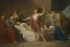French School, circa 1800  ACHILLES LAMENTING THE DEATH OF PATROCLUS