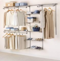 Cool 10 Open Closet Ideas for you HomeMakeover Portable Wardrobe, Portable Closet, Closet Storage, Closet Organization, Master Bedroom Closet, Master Suite, Hanging Clothes, Wardrobe Closet, Cafe Curtains