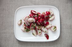 I love a strong salad!  Radish Salad with Anchovy Sauce