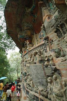 Dazu Rock Carvings China -  Lovely Master Piece                           http://allsolutionsnetwork.com/cgi-bin/d.cgi/AL3156/resourcecenter.htm