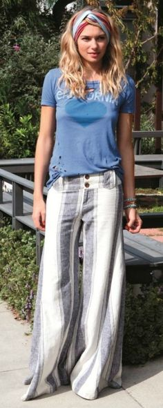Free People | Extreme Flare Linen Pants