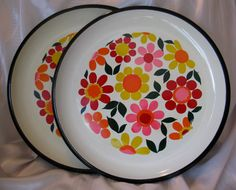 Vintage 60s Mod Flower Power Melmac Serving by FourMartiniLunch
