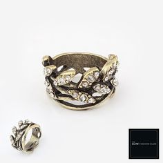 TEFC Divine Crown of Leaves Ring | Use this exclusive code: PINTEREST05 for 5% off all fashion products @ theelitefashionclub.storenvy.com