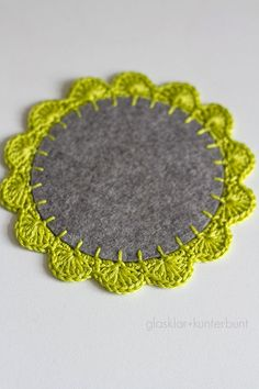 glasklar & kunterbunt: Häkelborte - Tutorial ooooh pretty placemat or coaster