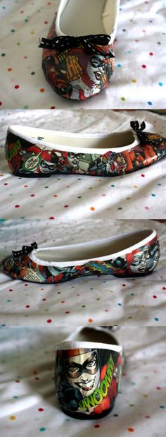 Awesome DIY Nerd shoes! Totally making these. We just bought tickets to the Dark Knight MIdnight premier!!!