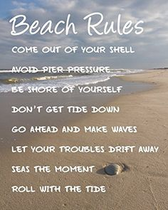 Summer Quotes : Beach Rules Beach Quotes Coastal Wall Art Beach by NewLeafPics Quote Wall, Wall Art Quotes, Beach Rules, Beach Signs, Lake Signs, Best Friend Poems, Coastal Wall Art, Beach Wall Art, Coastal Decor