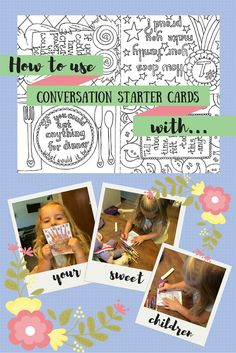 Mom2MomEd Blog: How to use Conversation Starter Cards with your kids