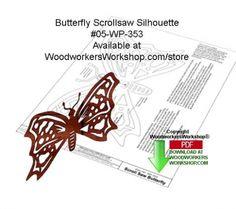 05-WP-353 - Butterfly Scrollsaw Silhouette Downloadable Wood Pattern PDF