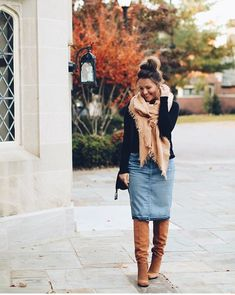 New Looks and Trends. 51 Modest Casual Style Looks Trending Today – Modest Fall fashion arrivals. New Looks and Trends. Modest Winter Outfits, Stylish Winter Outfits, Fall Outfits, Casual Outfits, Cute Outfits, Modesty Fashion, Jeans Rock, Thanksgiving Outfit, Modest Dresses