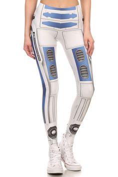 Blue Robot Leggings - POPRAGEOUS  #R2D2 #starwars