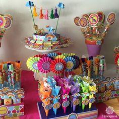 My Little Pony Birthday Party Ideas My Little Pony Party, Fiesta Little Pony, Cumple My Little Pony, My Lil Pony, Candy Theme Birthday Party, 4th Birthday Parties, Party Themes, Party Ideas, Candy Party