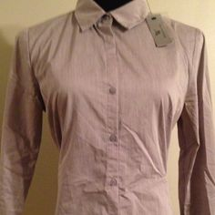 NWT Worthington career shirt button front lady cut New with tag Worthington dress top. Very pretty sz 8 button too, light stretch, long sleeve , collar perfect for casual up dress or work! Bit wrinkly but will remove them before shipment:) retails 49.00 Worthington Tops