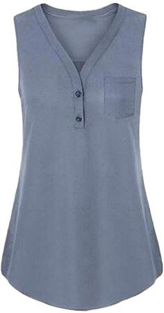 Shop the latest collection of Messic Womens Button Chiffon Blouse Sleeveless Tunic Tank Tops from the popular stores - all in one Blouse Styles, Blouse Designs, Simple Pakistani Dresses, Zeina, Tunic Tank Tops, Blouse And Skirt, Sleeveless Tunic, Skirt Outfits, Blouses For Women