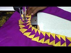 PAITHANI SAREE BLOUSE DESIGN - YouTube Blouse Neck Models, Saree Blouse Neck Designs, Kurta Neck Design, Patch Work Blouse Designs, Simple Blouse Designs, Stylish Blouse Design, Chudidhar Neck Designs, Dress Neck Designs, Sleeve Designs