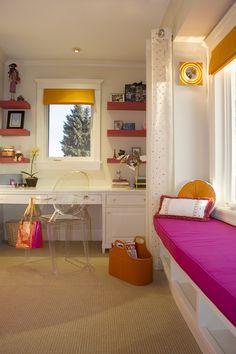 Girlu0027s Room With Bollywood Colour Scheme (by Corea Sotropa) Window Seats,  Bay Window