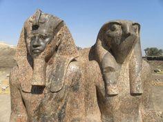 Dyad of Amenhotep III and Horus. Kom el-Hettan- Luxor Times: New Kingdom