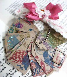 tiny bird tags, charming! #bird, #tags, #paper, #papercrafts