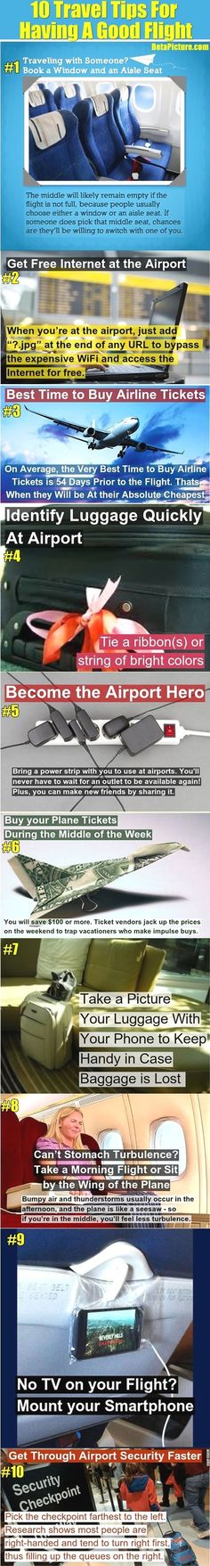 10 Travel Tips That You Must Know To Have A Good Flight. Loving that power strip idea! Such a good idea!  #traveltips